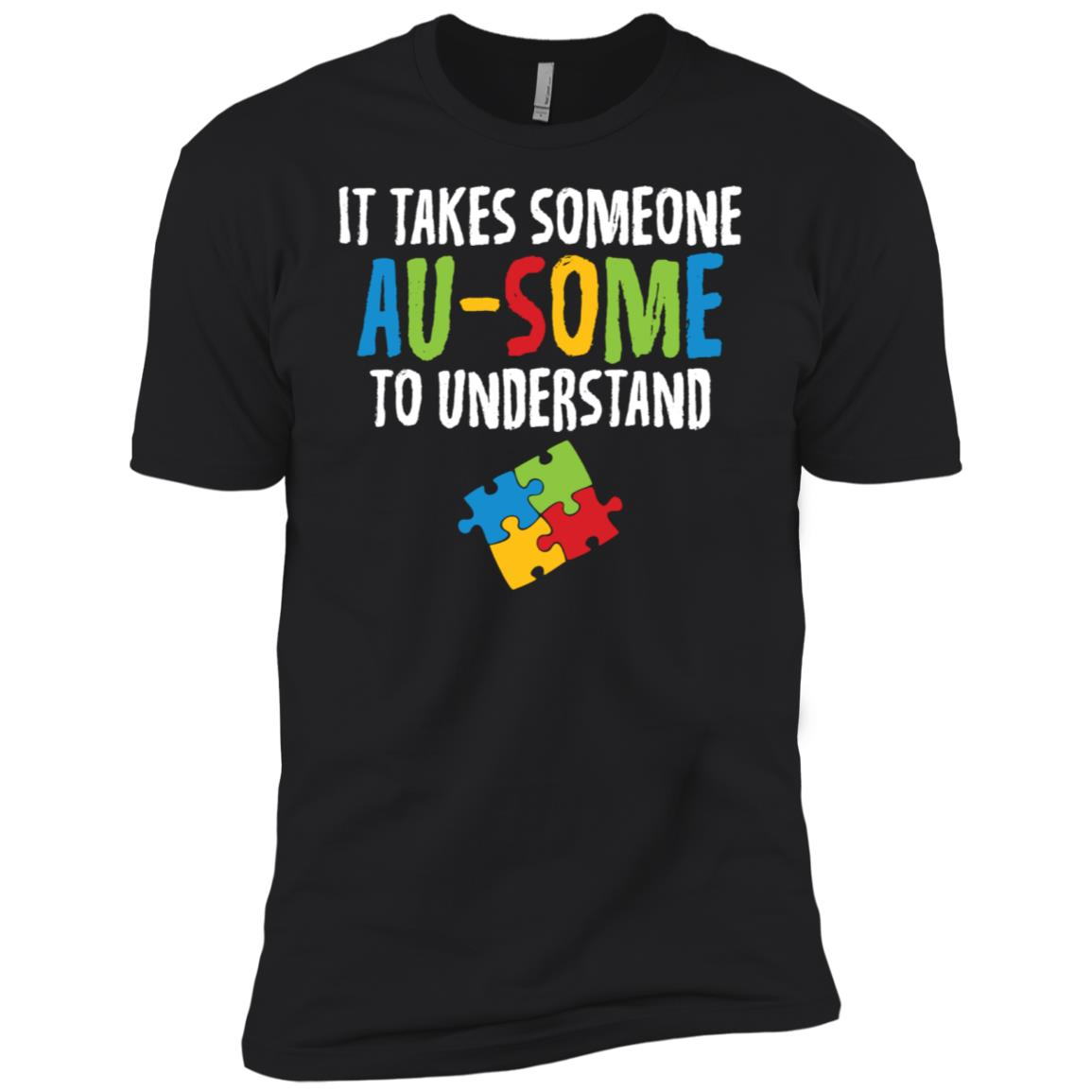 Autism It Takes Someone Au-some Gift Men Short Sleeve T-Shirt
