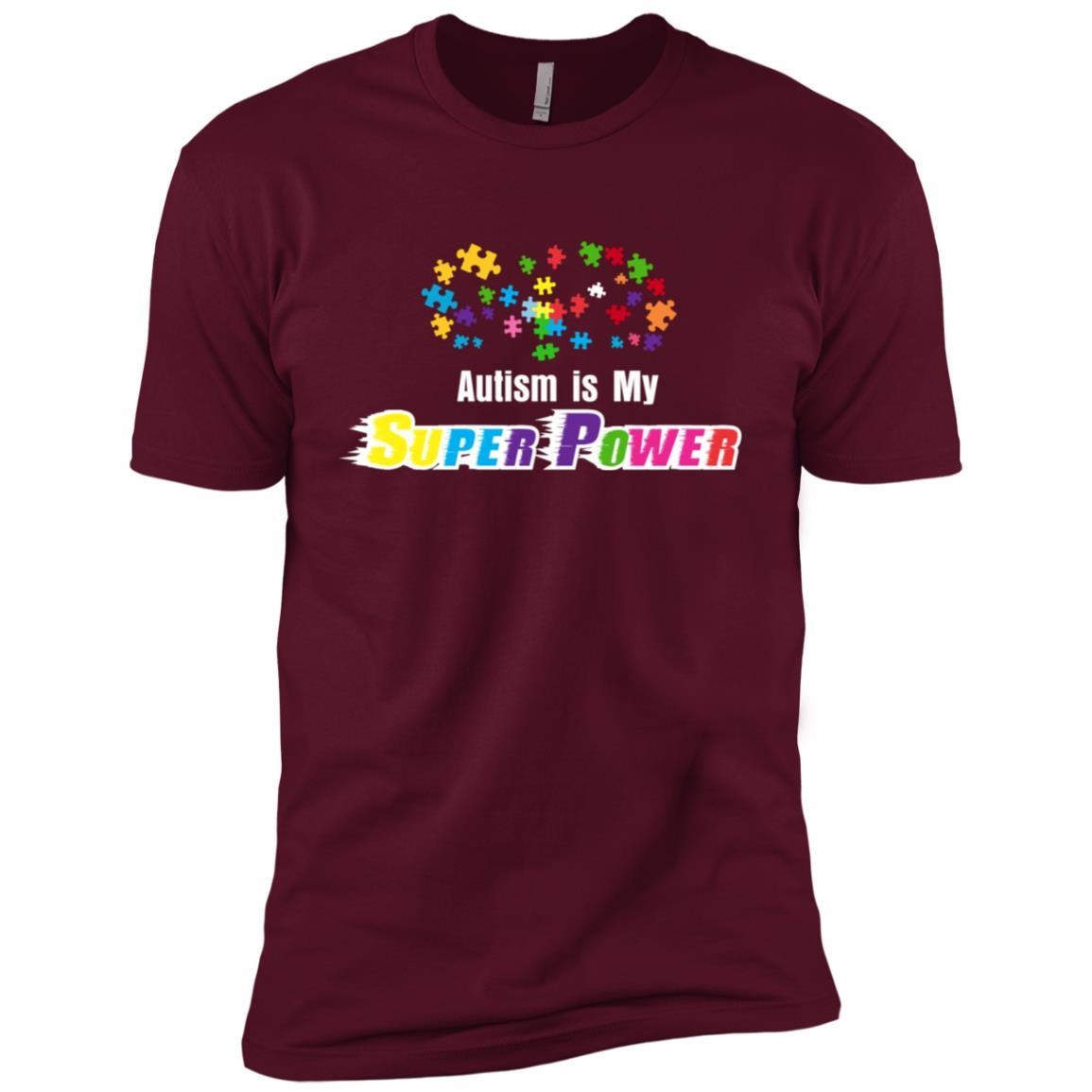 Autism is My Super Power Autism Awareness Men Short Sleeve T-Shirt