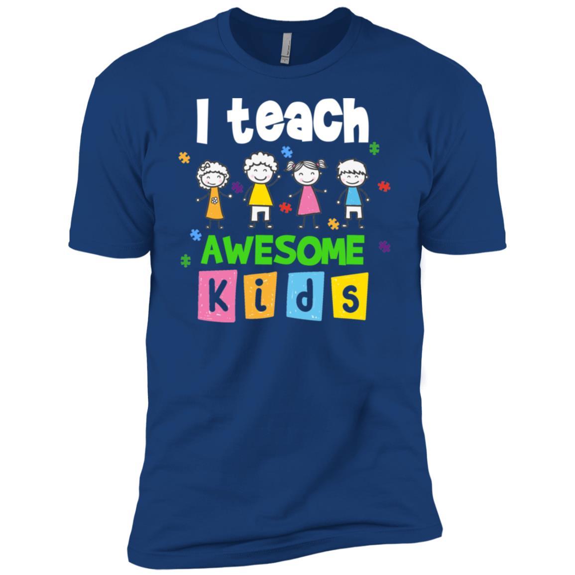 Autism Awarenesss I Teach Awesome Kids Men Short Sleeve T-Shirt