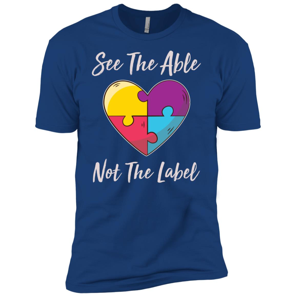 Autism Awareness See The Able Not The Label-3 Men Short Sleeve T-Shirt