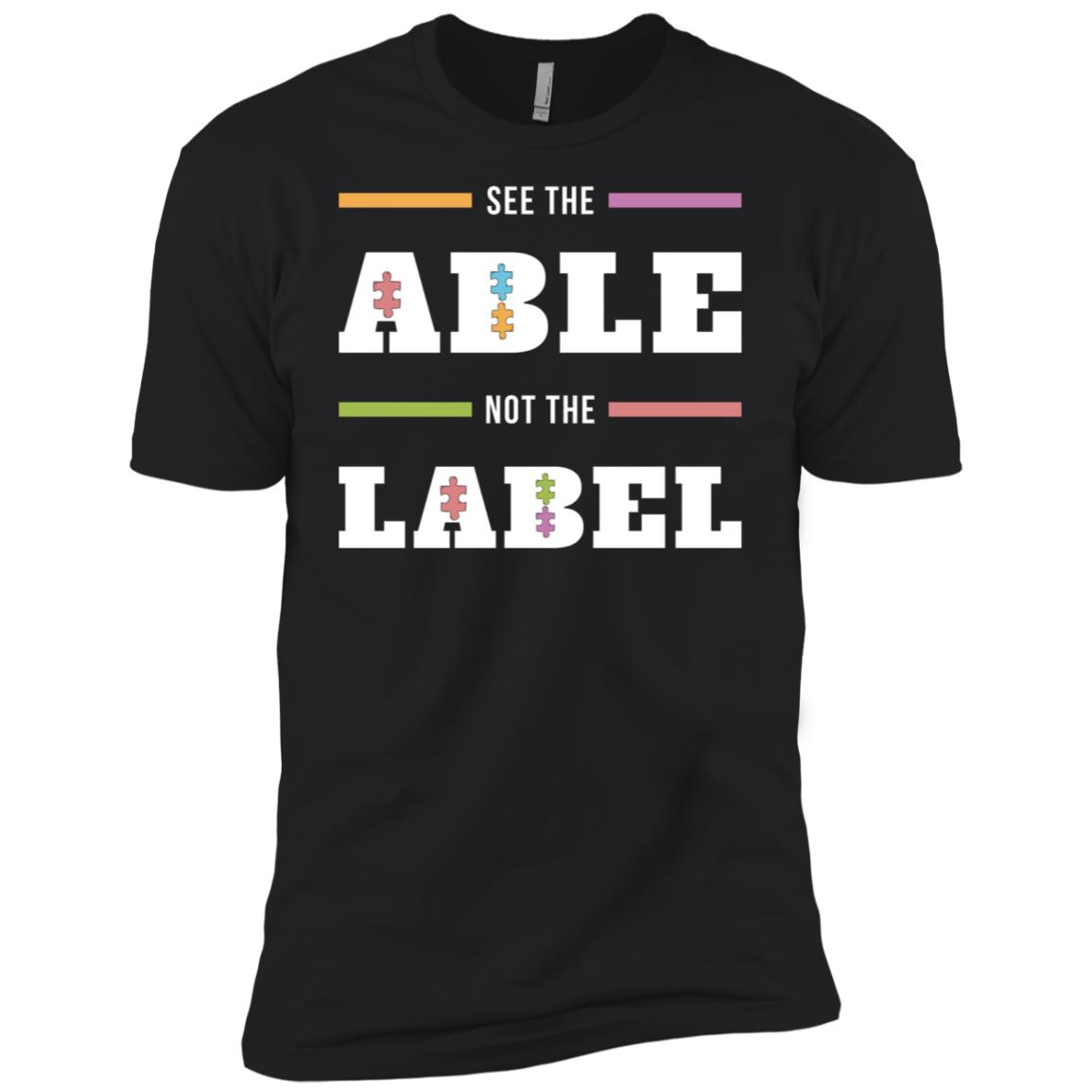 Autism Awareness See The Able Not The Label-2 Men Short Sleeve T-Shirt