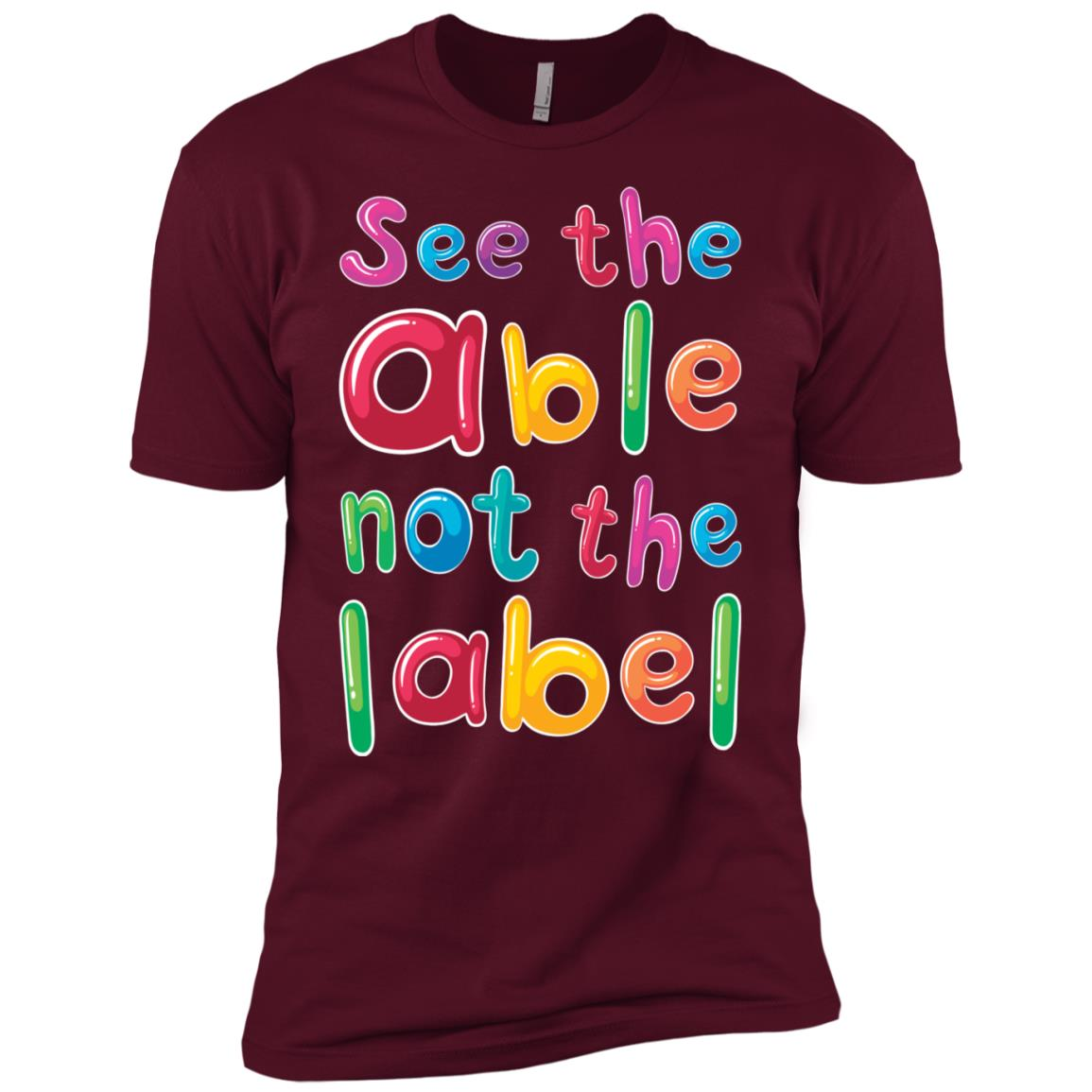 Autism Awareness See The Able Not The Label-1 Men Short Sleeve T-Shirt