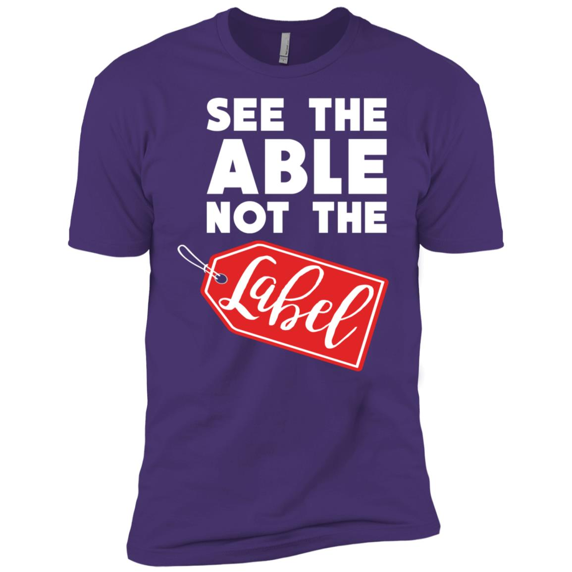 Autism Awareness See The Able Not The Label Men Short Sleeve T-Shirt