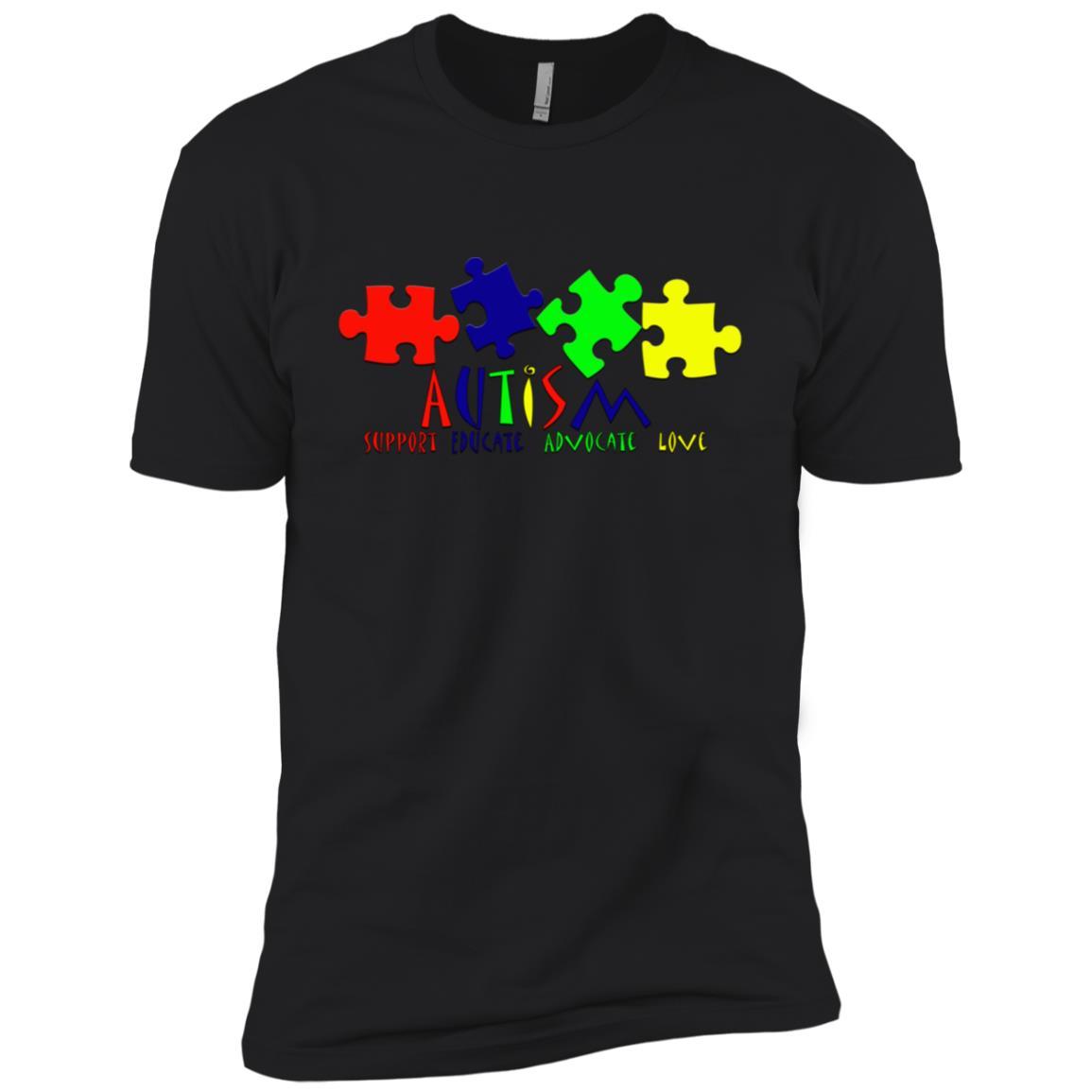 Autism Awareness Puzzle Pieces for Men Women & Kids Men Short Sleeve T-Shirt