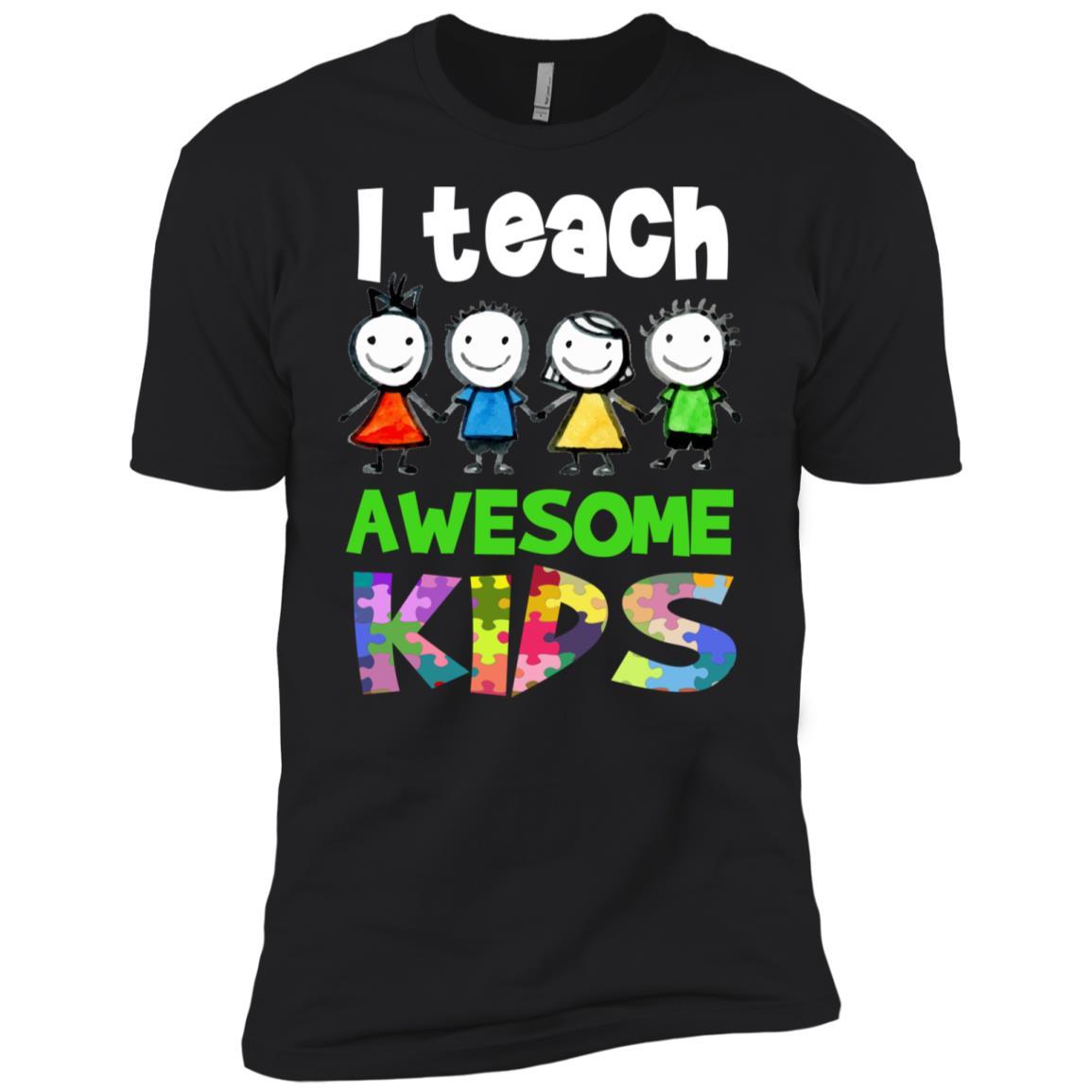 Autism Awareness I Teach Awesome Kids Men Short Sleeve T-Shirt