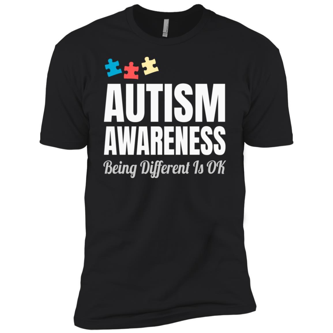 Autism Awareness Being Different is Ok Men Short Sleeve T-Shirt