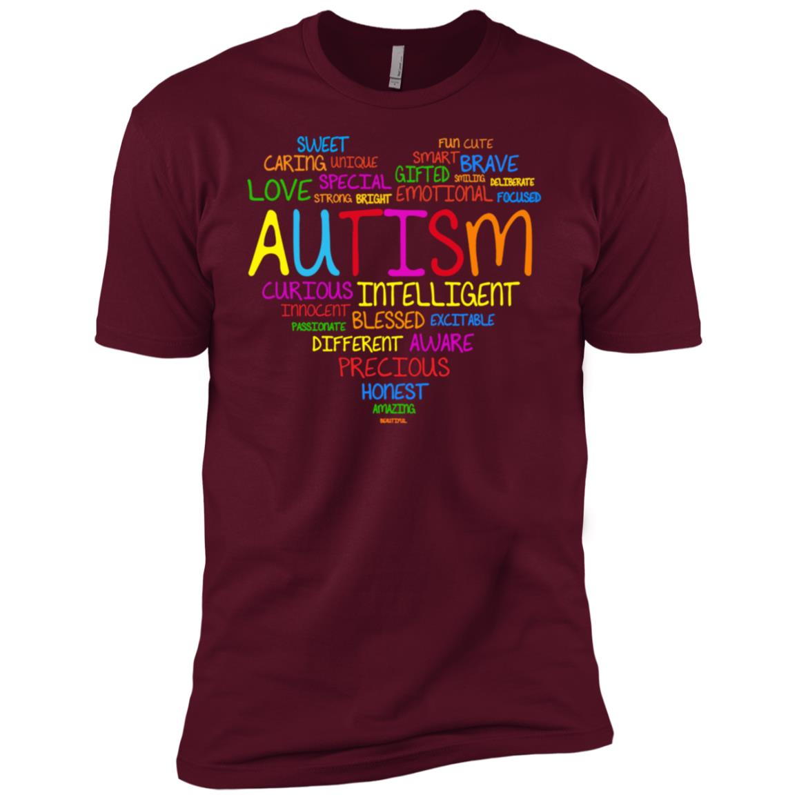 Autism Awareness Autism Heart Full Men Short Sleeve T-Shirt