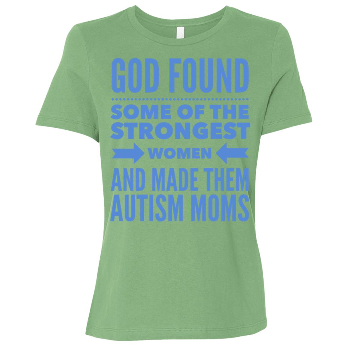 Autism Mom God Found The Strongest Women & Made Autism Moms Women Short Sleeve T-Shirt