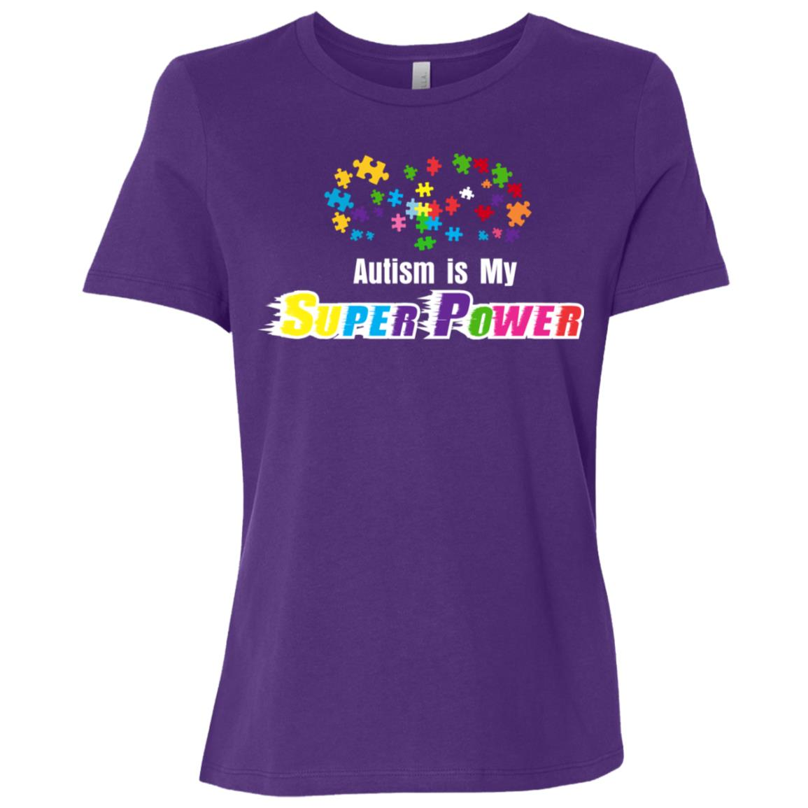 Autism is My Super Power Autism Awareness Women Short Sleeve T-Shirt