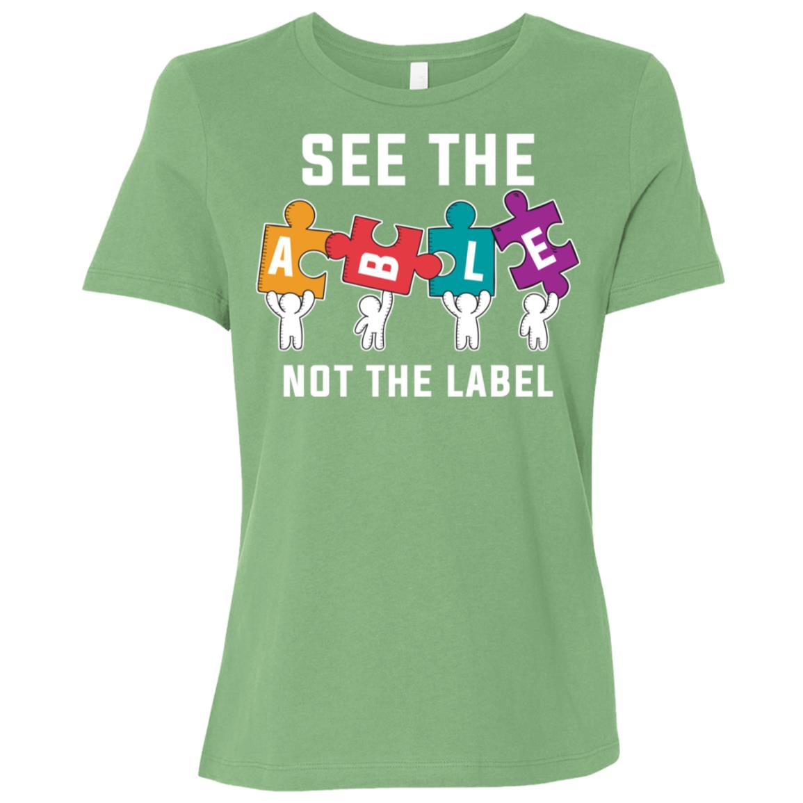 Autism Awareness See The Able Not The Label-4 Women Short Sleeve T-Shirt