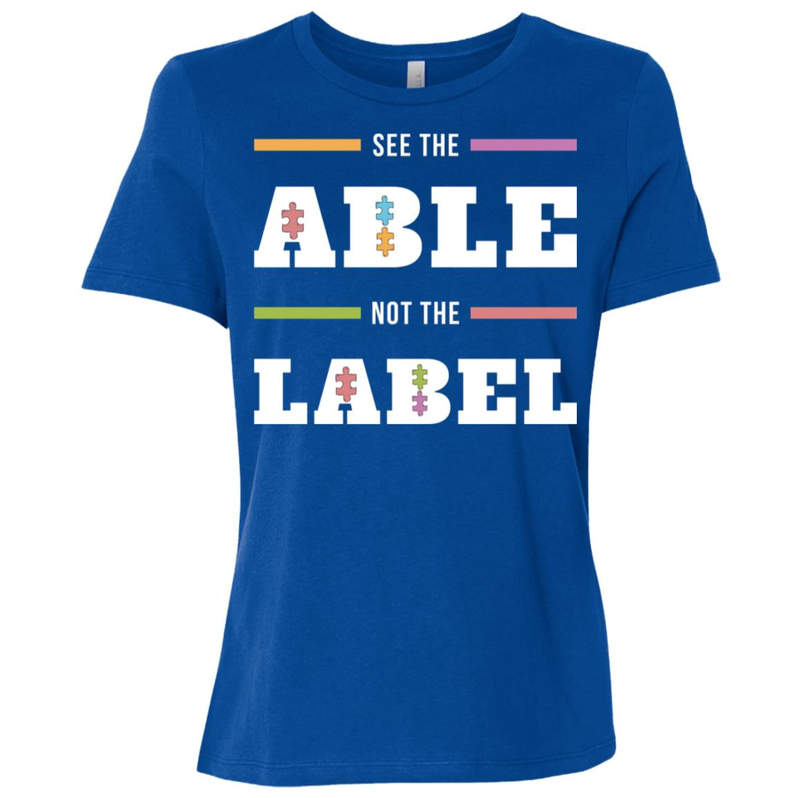 Autism Awareness See The Able Not The Label-2 Women Short Sleeve T-Shirt