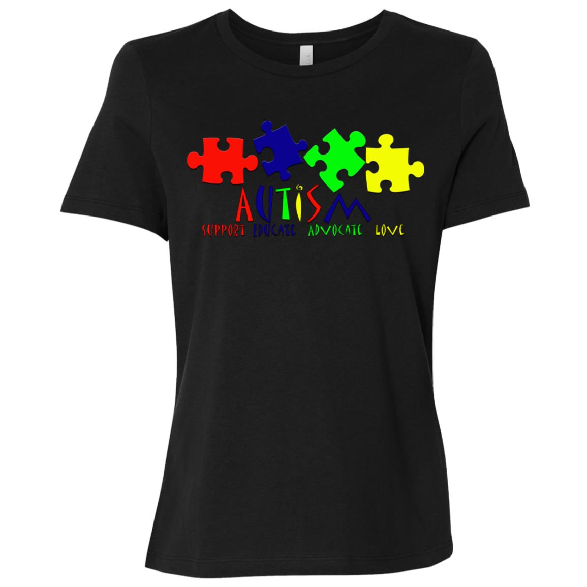 Autism Awareness Puzzle Pieces for Men Women & Kids Women Short Sleeve T-Shirt