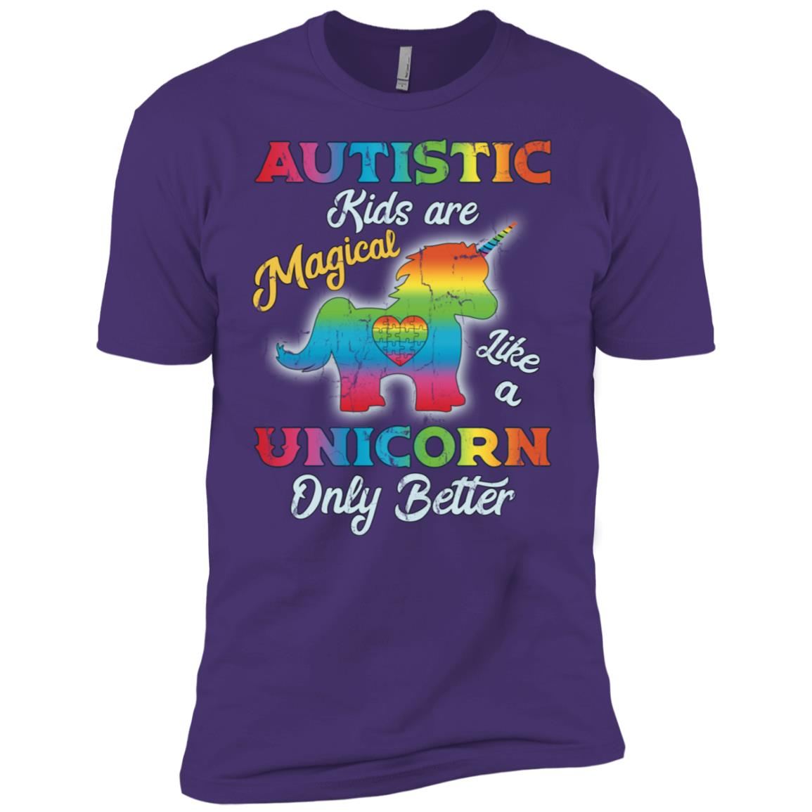 Autism Unicorn Girl Autism Awareness Men Short Sleeve T-Shirt