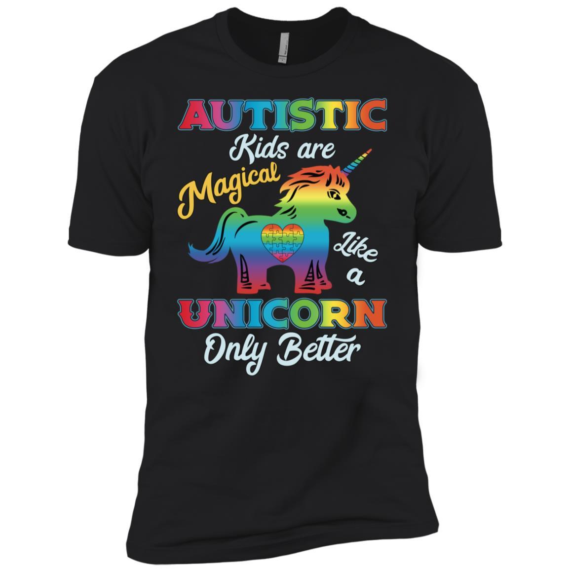 Autism Unicorn Autism Awareness Gift-1 Men Short Sleeve T-Shirt