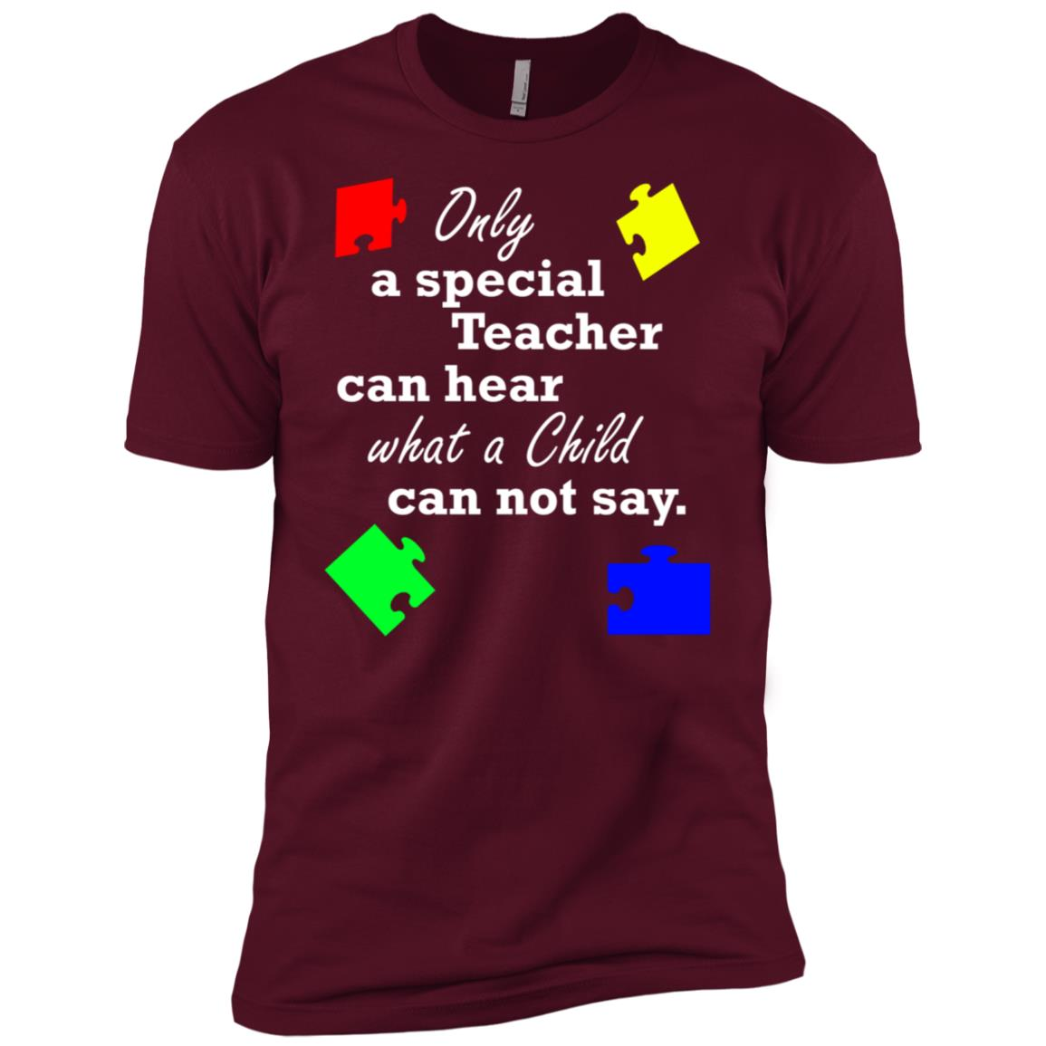 Autism Teacher Special Education Gift Men Short Sleeve T-Shirt