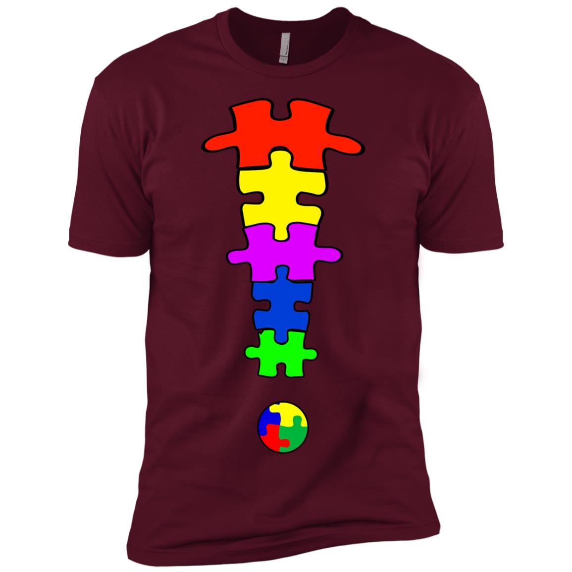 Autism Puzzle – Autism Awarenesss Men Short Sleeve T-Shirt