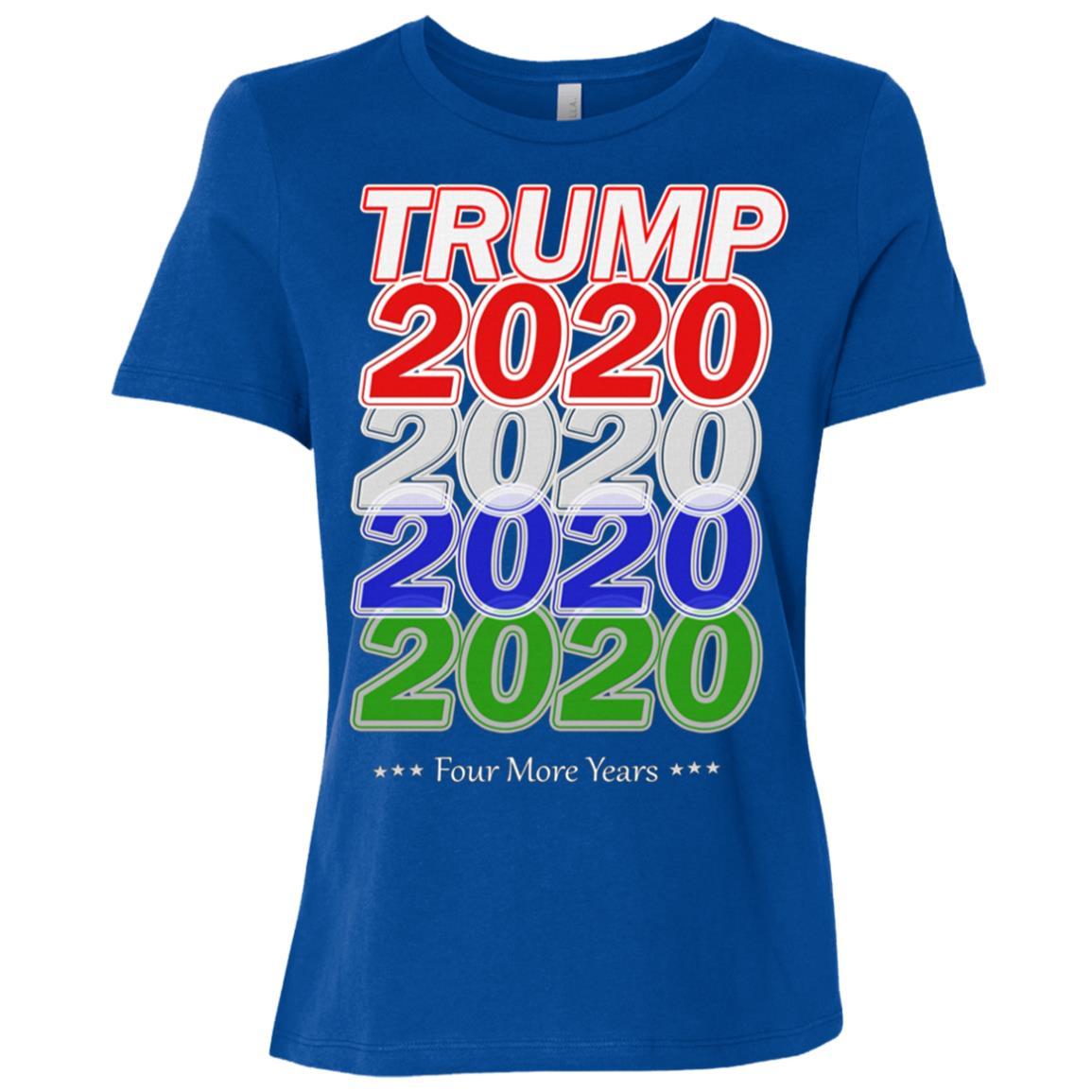 Trump Train 2020 Election Re Elect US Patriot Flag Gift T Women Short Sleeve T-Shirt