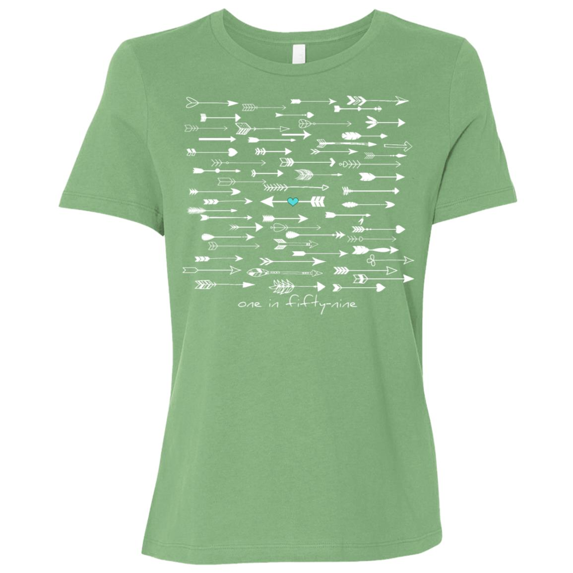 Cdc reported autism rate is 1 in 59. #nomorepuzzlepieces-7 Women Short Sleeve T-Shirt