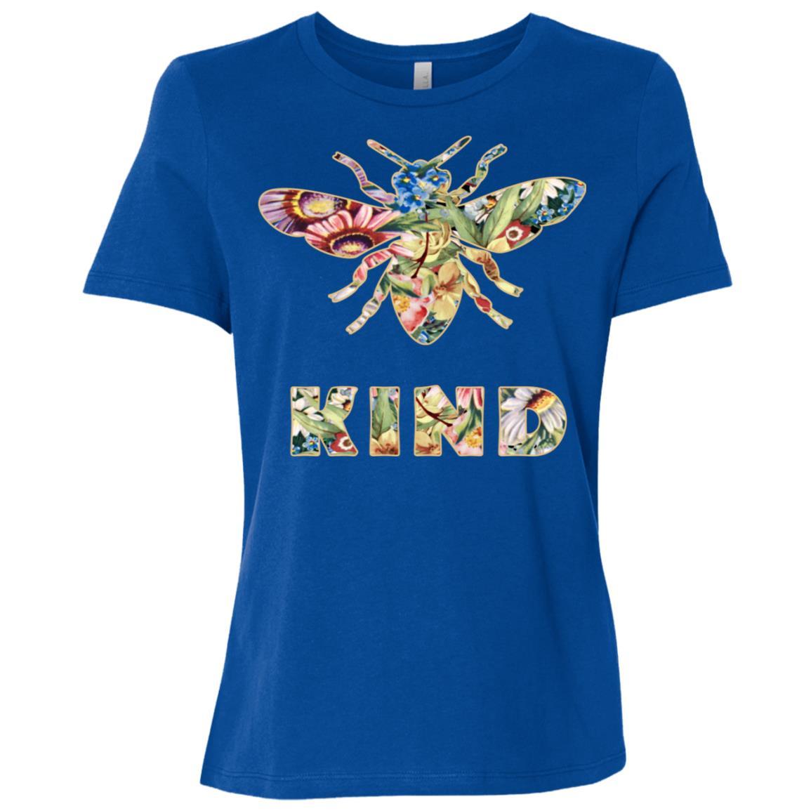 Bee kind Cute Bumble Bee Kindness Long -2 Women Short Sleeve T-Shirt