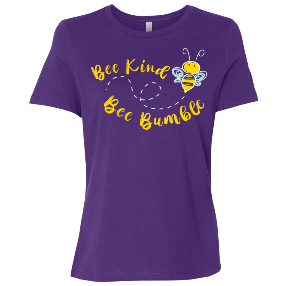 Bee kind Cute Bumble Bee Kindness Long -1 Women Short Sleeve T-Shirt