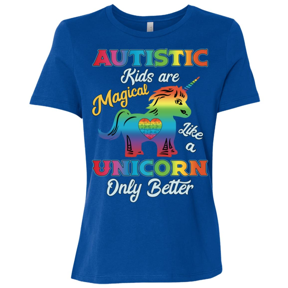 Autism Unicorn Autism Awareness Gift-1 Women Short Sleeve T-Shirt