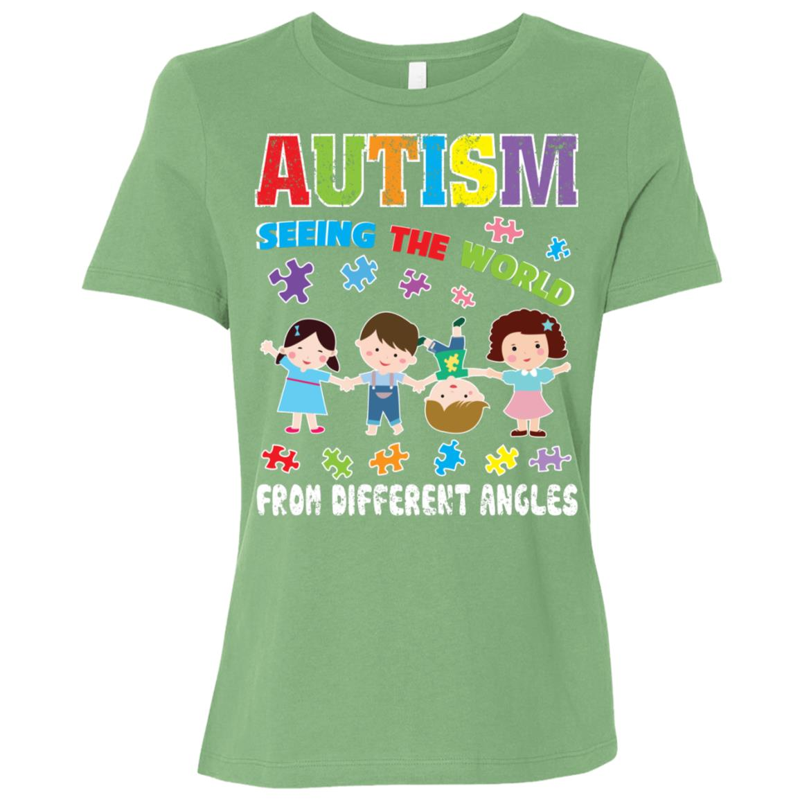 Autism Seeing The World From Different Angles Gift Women Short Sleeve T-Shirt