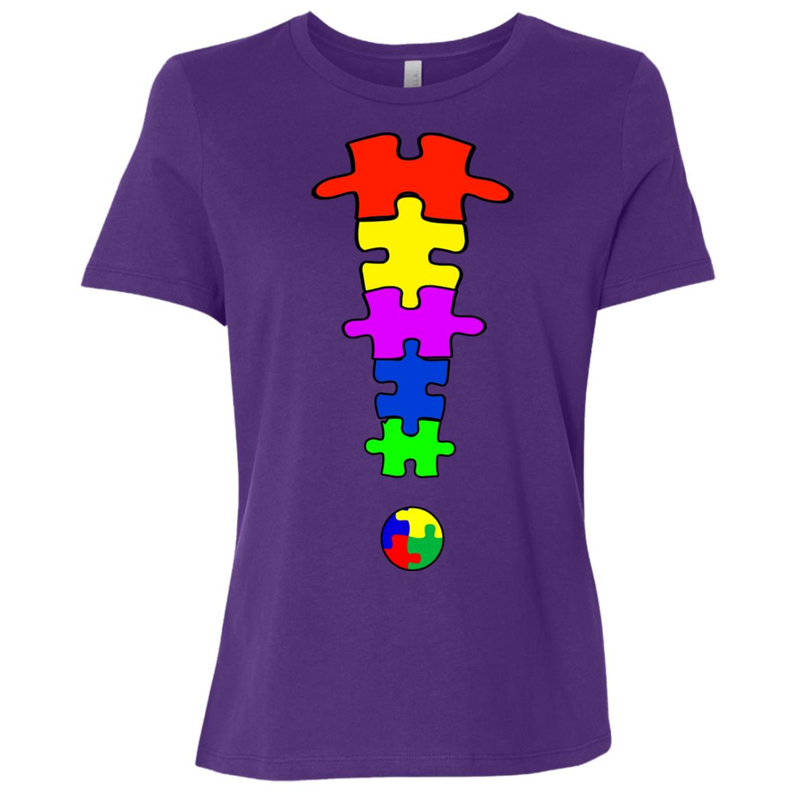 Autism Puzzle – Autism Awarenesss Women Short Sleeve T-Shirt