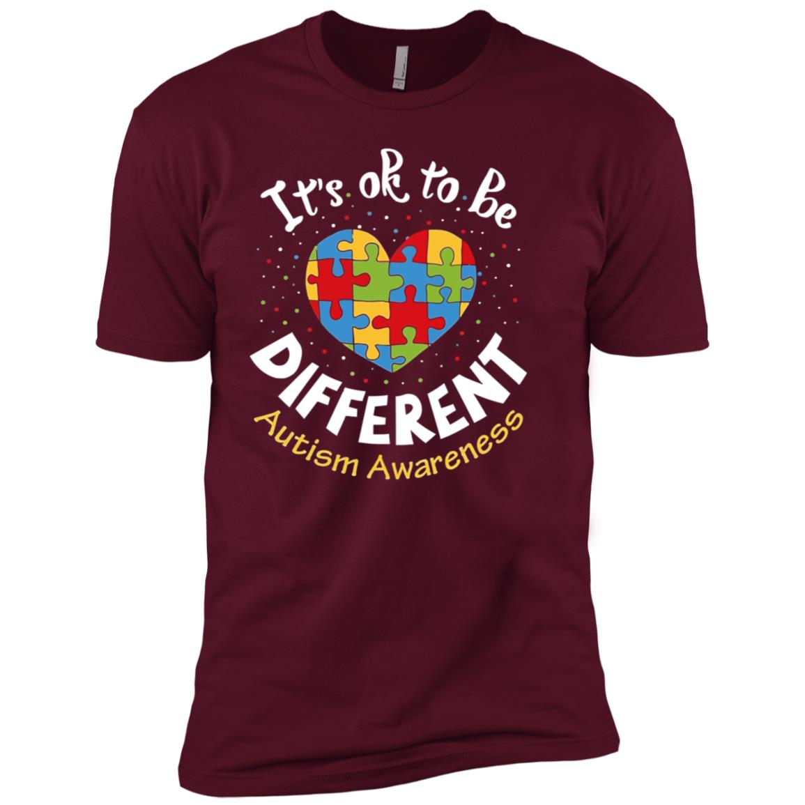 It's Ok to be different Autism Awareness Men Short Sleeve T-Shirt