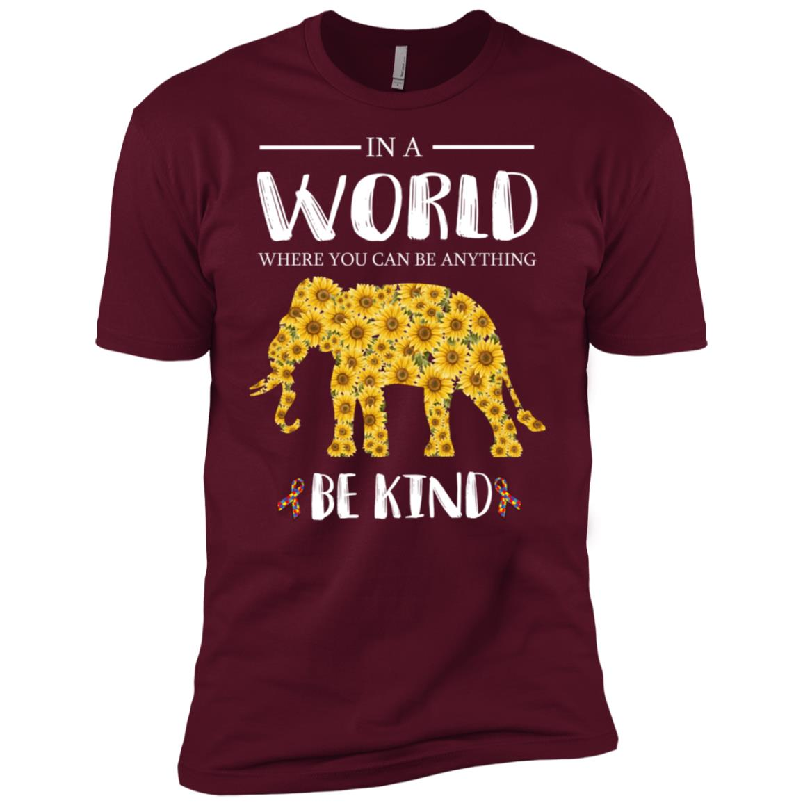 In A World Where You Can Be Anything Be Kind Elephant Men Short Sleeve T-Shirt