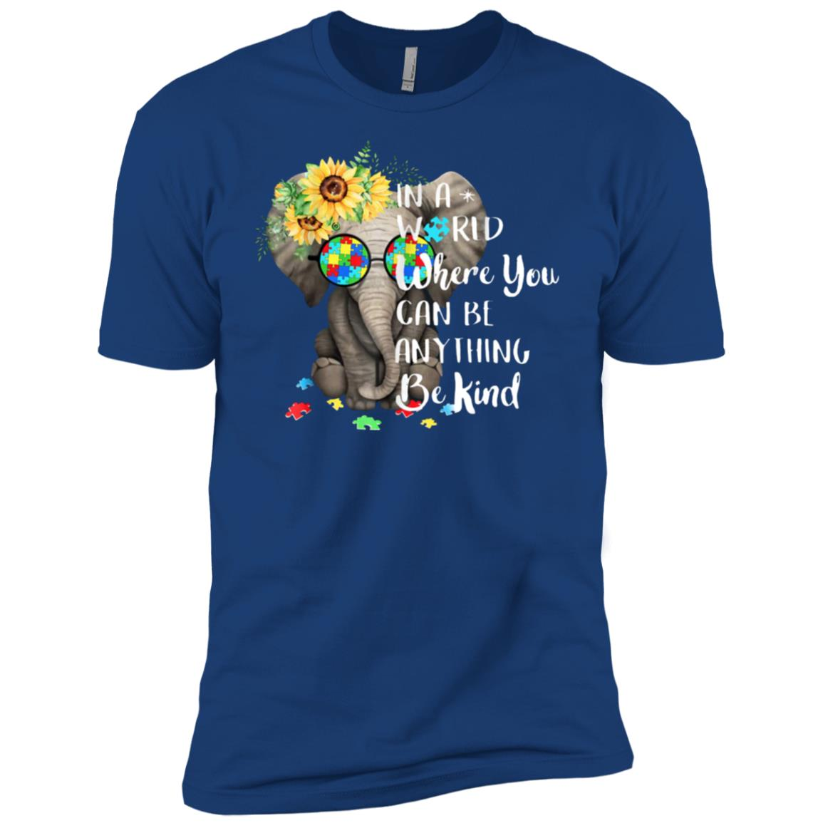 In A World Where You Can Be Anything Be Kind Autism Men Short Sleeve T-Shirt