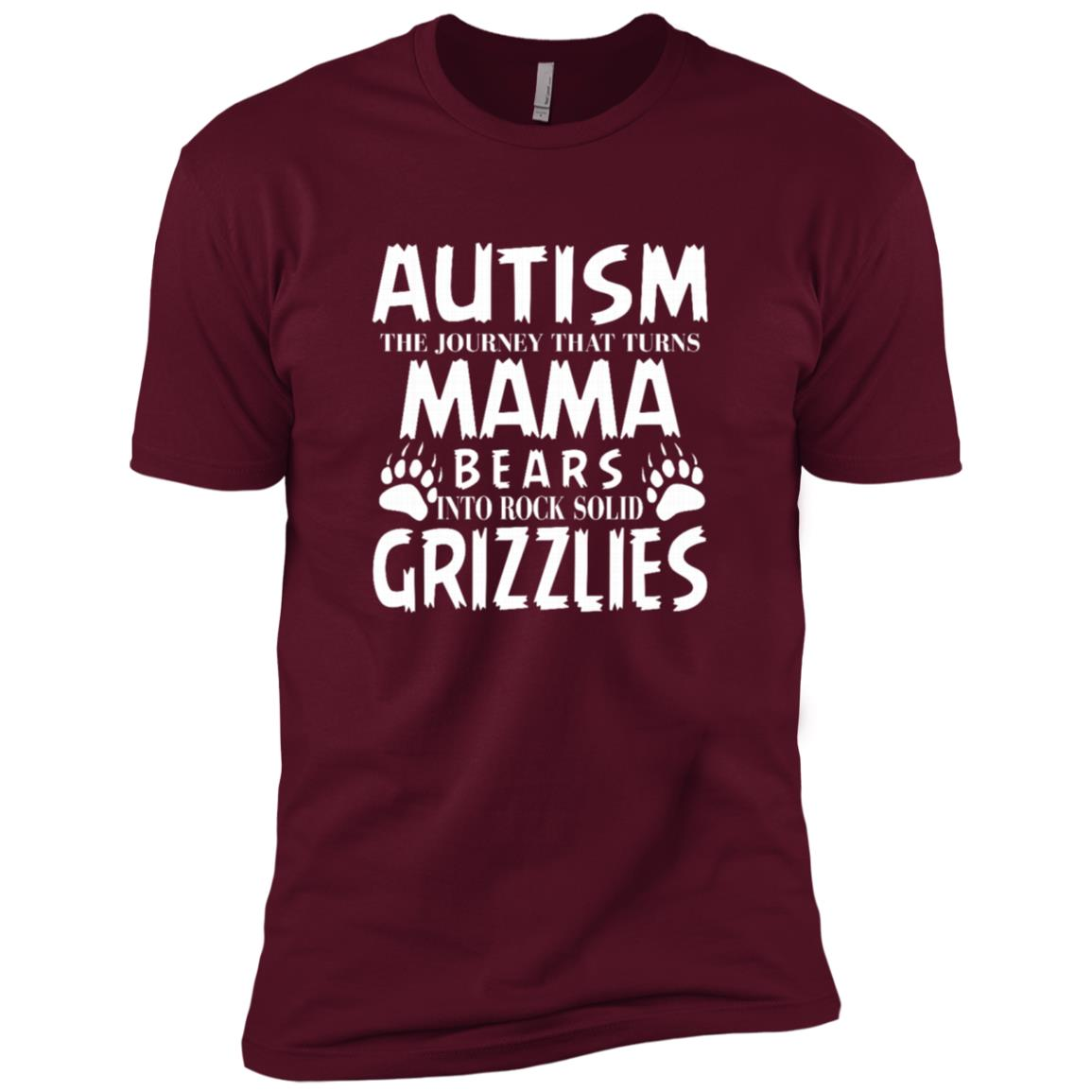 Grizzly Mom Autism Awareness Men Short Sleeve T-Shirt