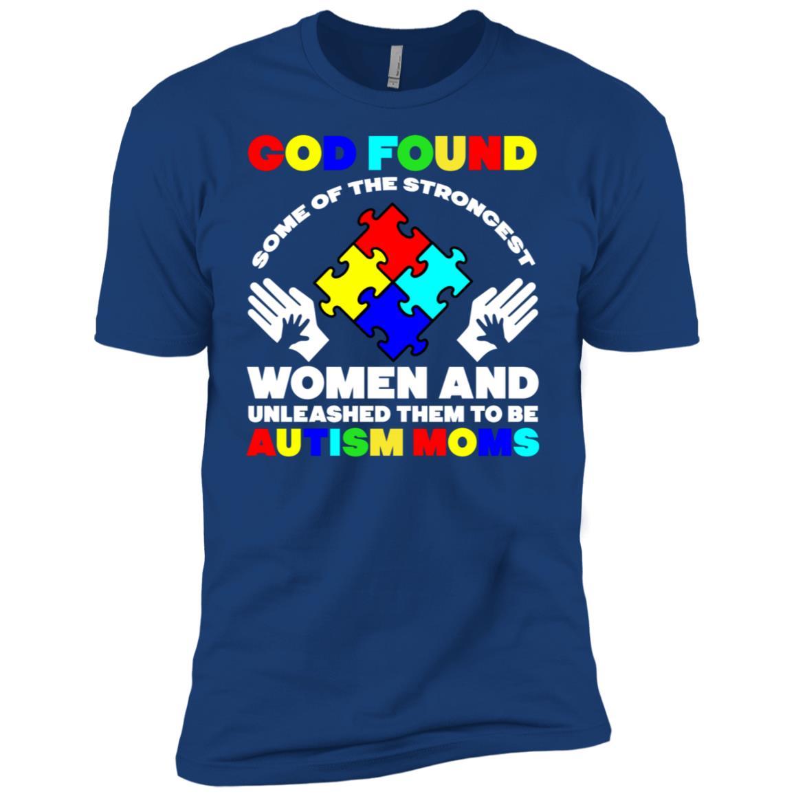 God Found Autism Moms Autism Awareness s Men Short Sleeve T-Shirt