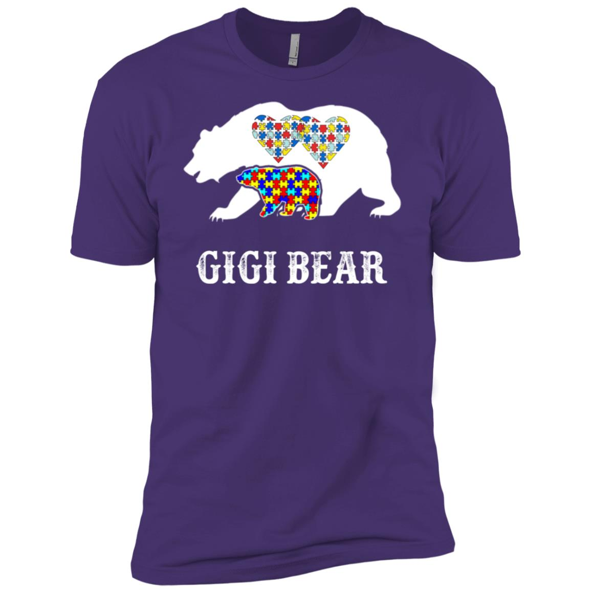 GiGi Bear Autism Awareness Love Support Men Short Sleeve T-Shirt