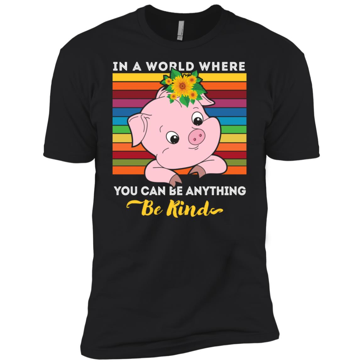 Funny Pig Autism Awareness Be Anything Be Kind Gift Men Short Sleeve T-Shirt