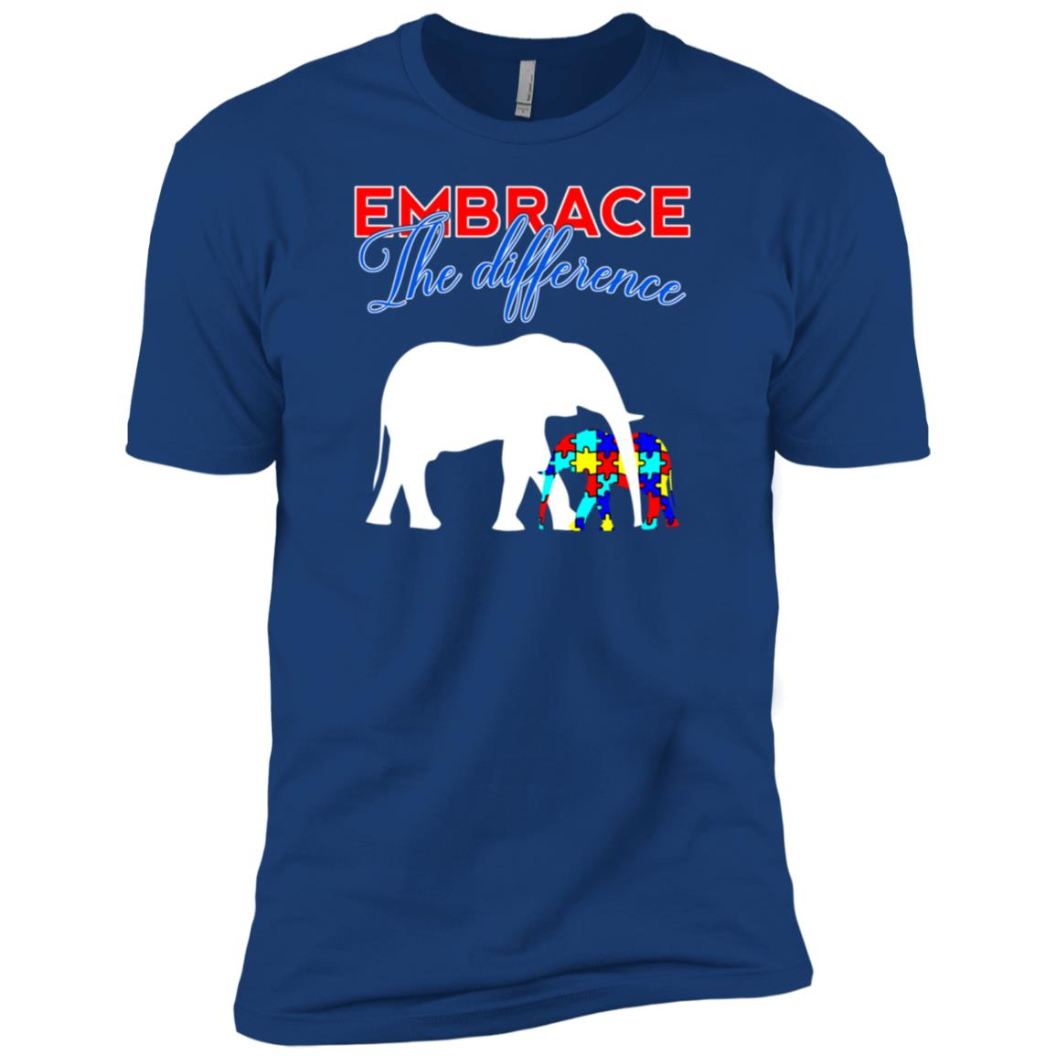 Embrace The Difference Autism Awareness Mom Dad Kids Men Short Sleeve T-Shirt