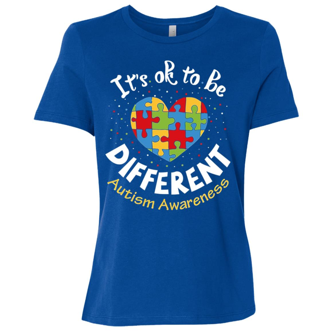 It's Ok to be different Autism Awareness Women Short Sleeve T-Shirt