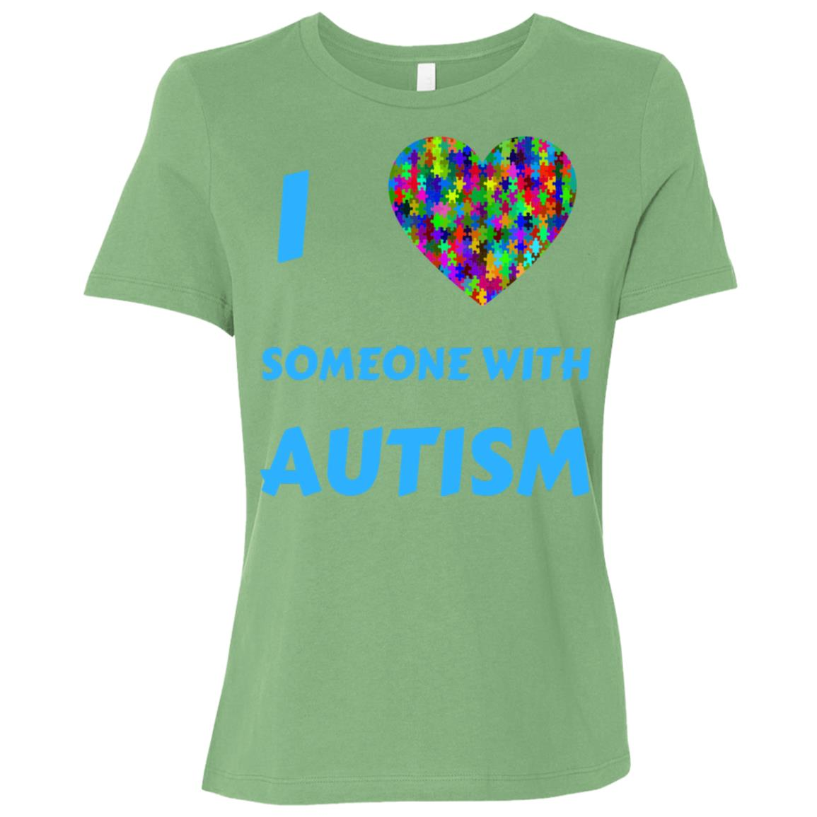 I Love Someone With Autism Mom Dad Awareness Month Women Short Sleeve T-Shirt