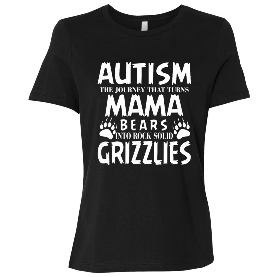 Grizzly Mom Autism Awareness Women Short Sleeve T-Shirt