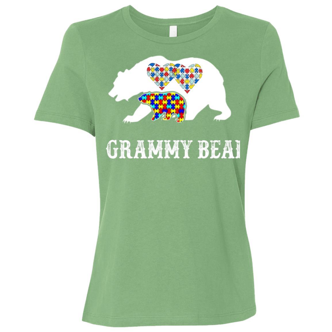 Grammy Bear Autism Awareness Love Support Mom Lover Women Short Sleeve T-Shirt