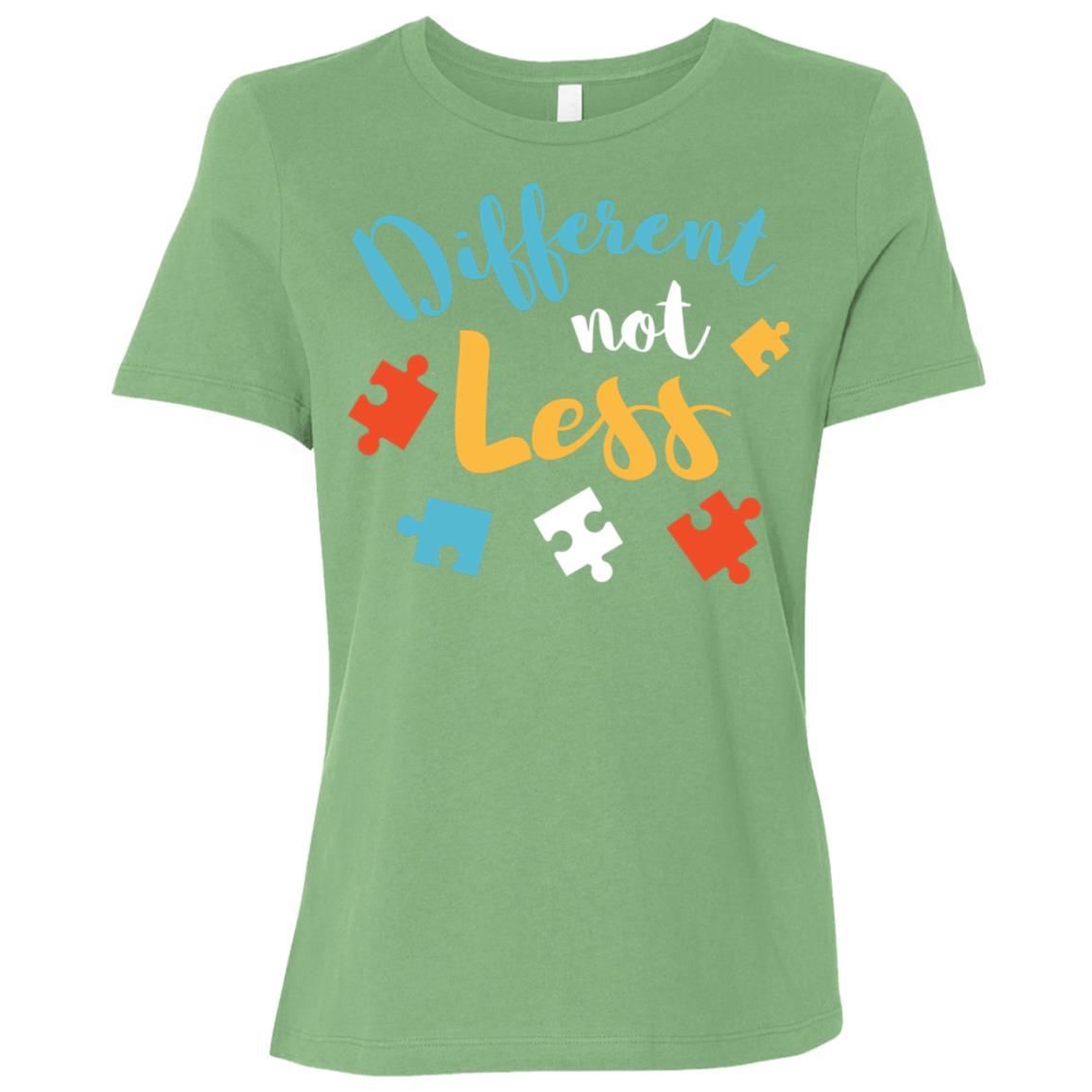 Different Not Less Autism Awareness Women Short Sleeve T-Shirt