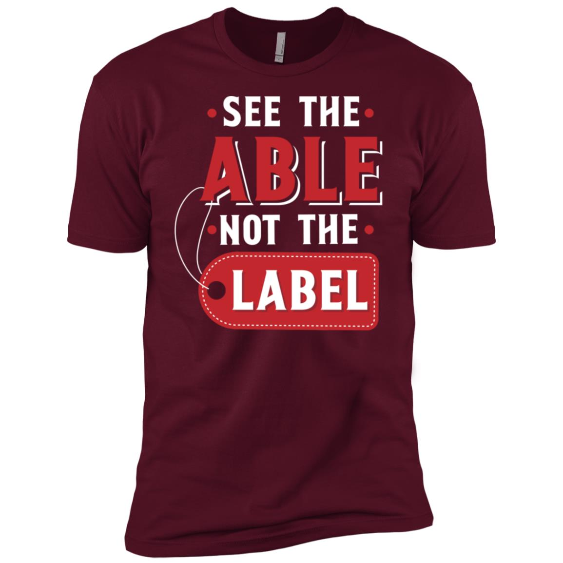 See The Able Not The Label Men Short Sleeve T-Shirt