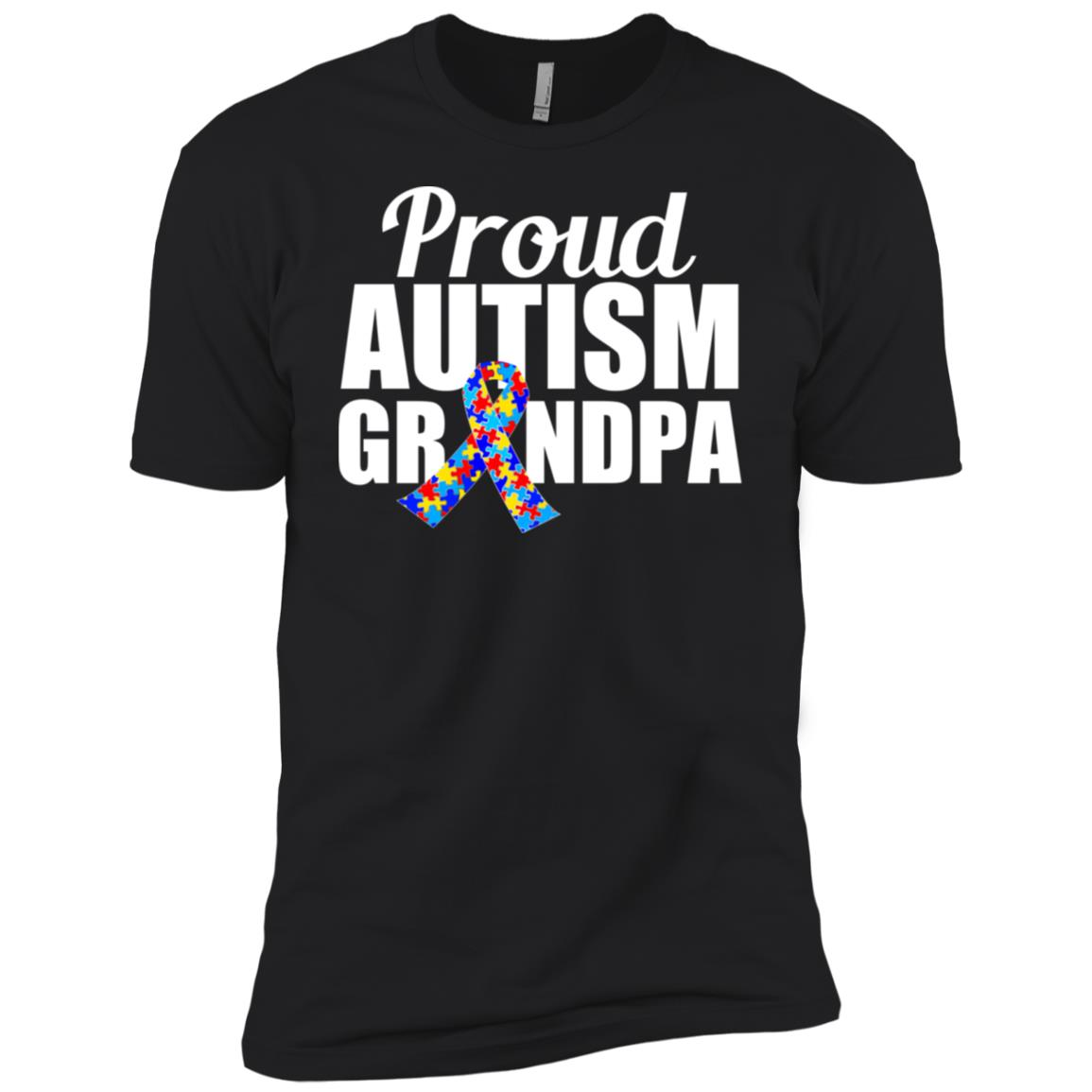 Proud Autism Grandpa Men Short Sleeve T-Shirt