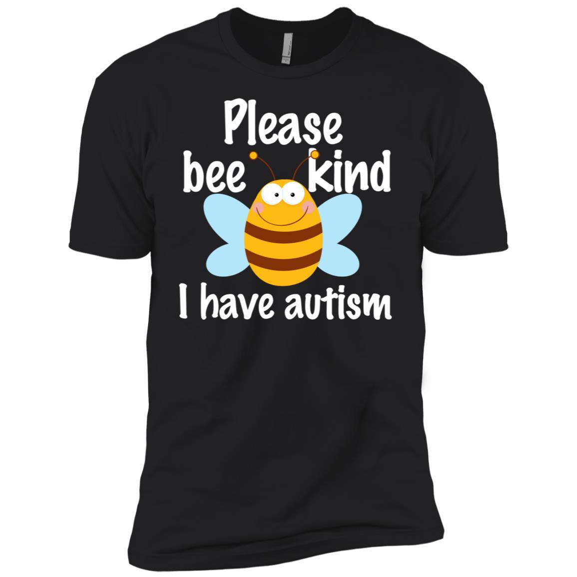 Please Bee Kind I Have Autism Pun Men Short Sleeve T-Shirt