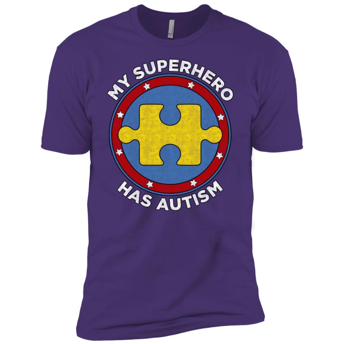 My Superhero Has Autism Awareness Support Men Short Sleeve T-Shirt