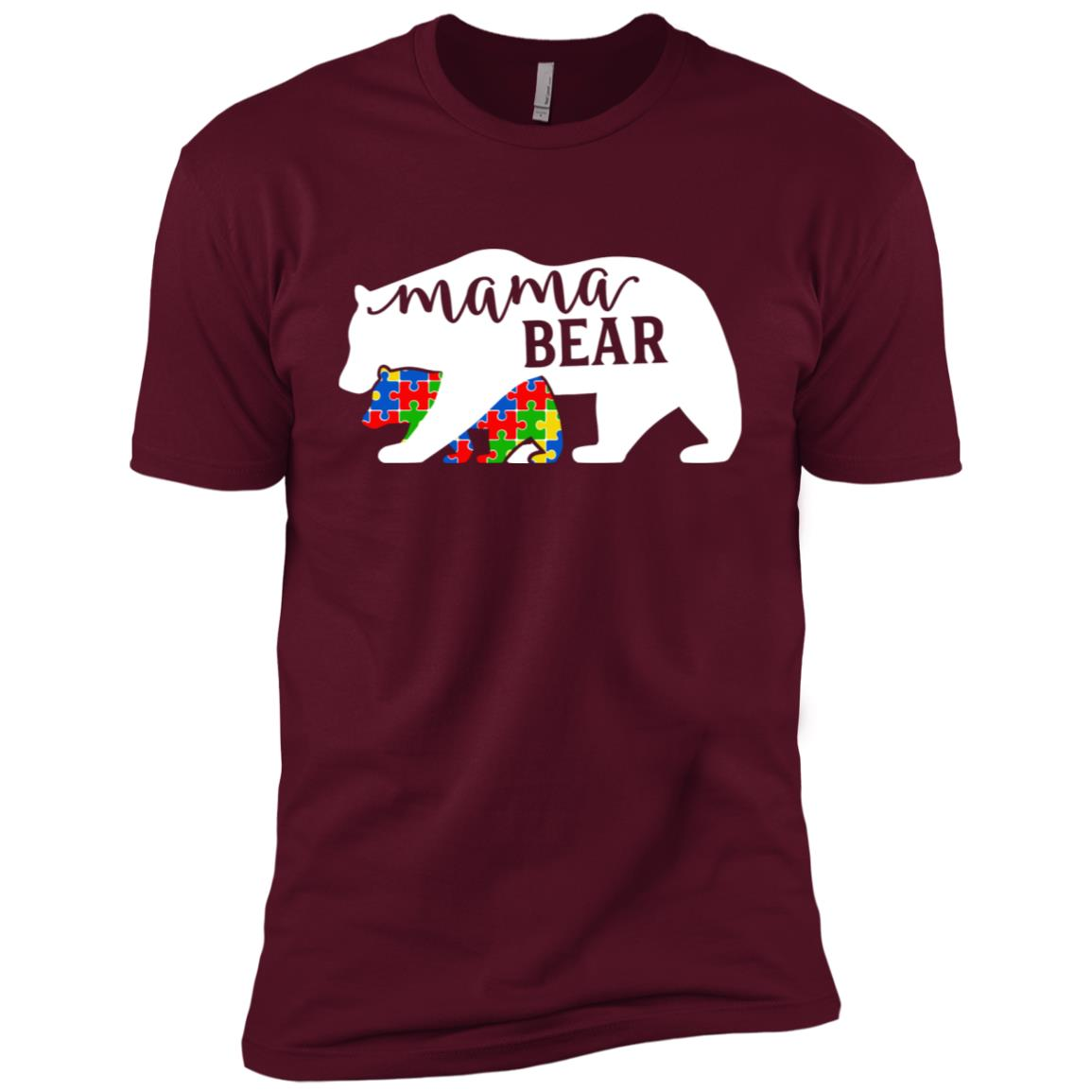 Mom Mama Bear Autism Awareness Month Family Support Men Short Sleeve T-Shirt