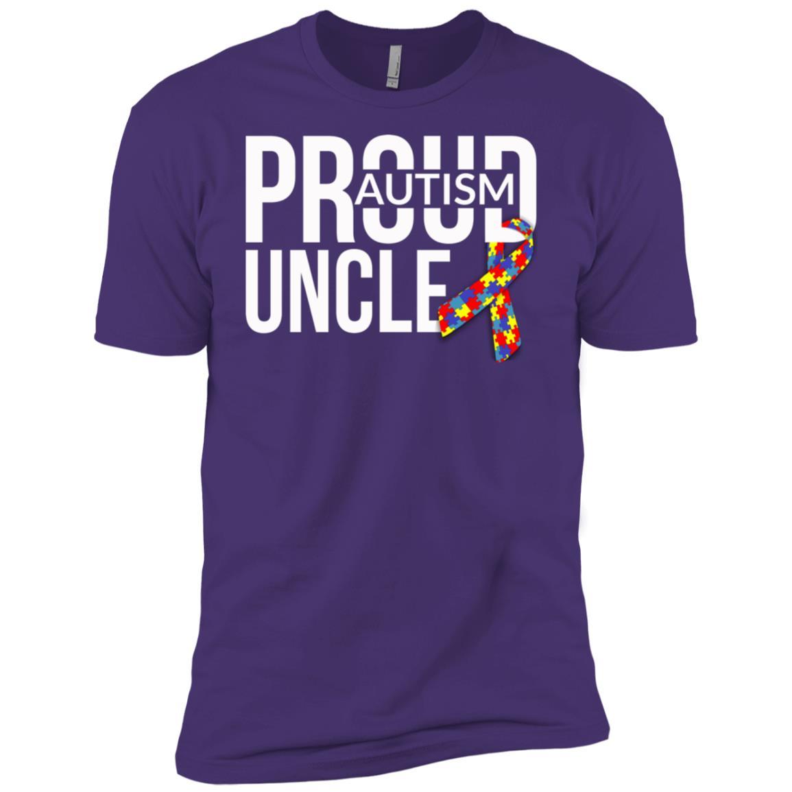 Mens Mens Proud Autism Uncle Autism Awareness Men Short Sleeve T-Shirt