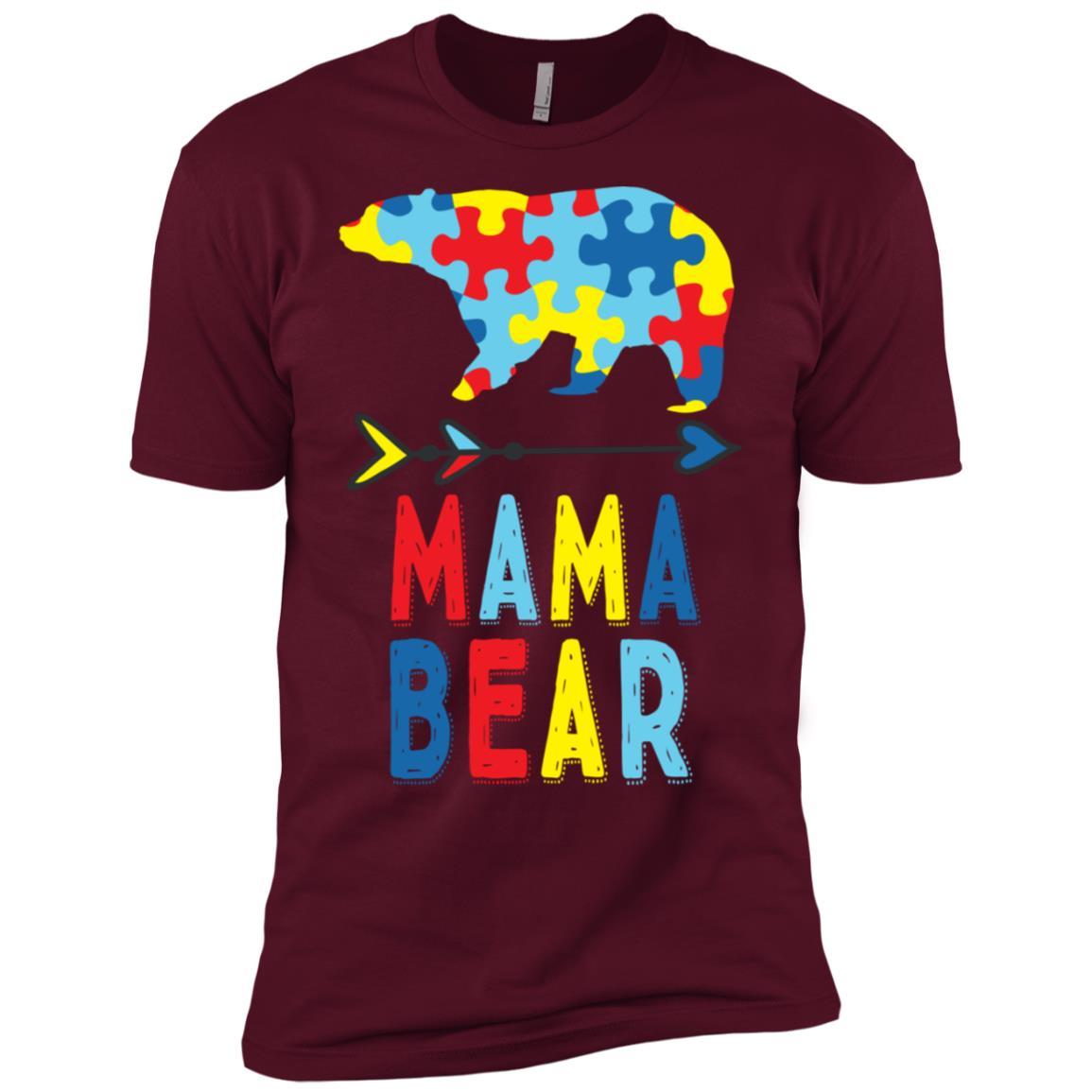 Mama Bear Autism Mom Gift Autism Awareness Men Short Sleeve T-Shirt