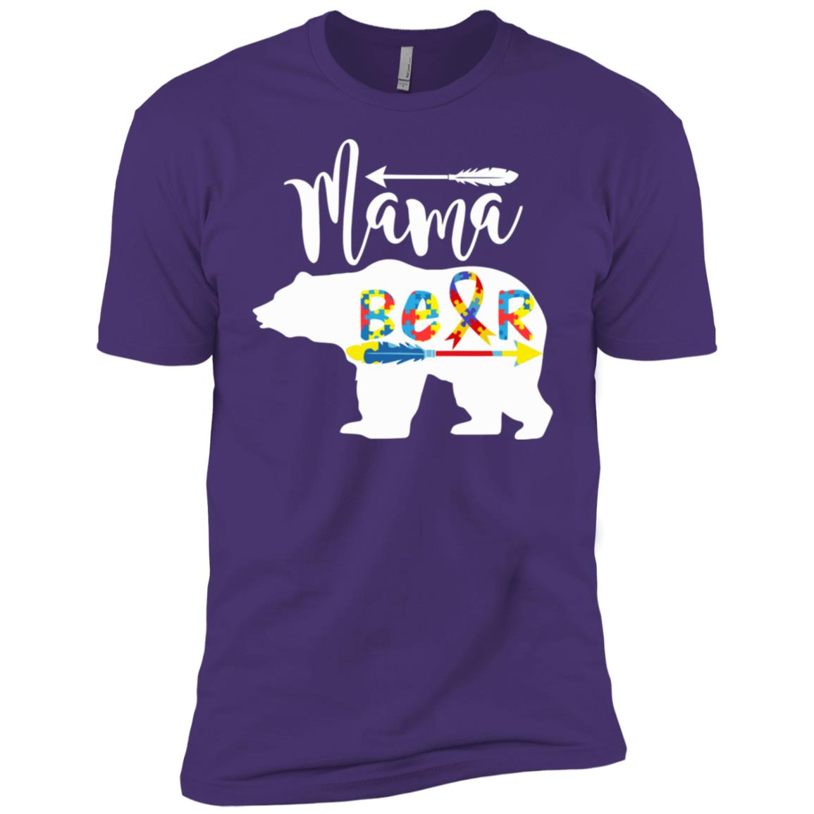 Mama Bear Autism Men Short Sleeve T-Shirt