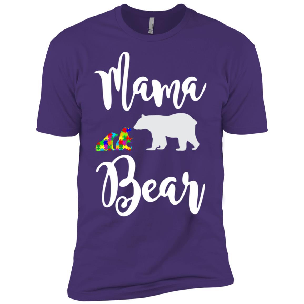 Mama Bear Autism Awareness Men Short Sleeve T-Shirt