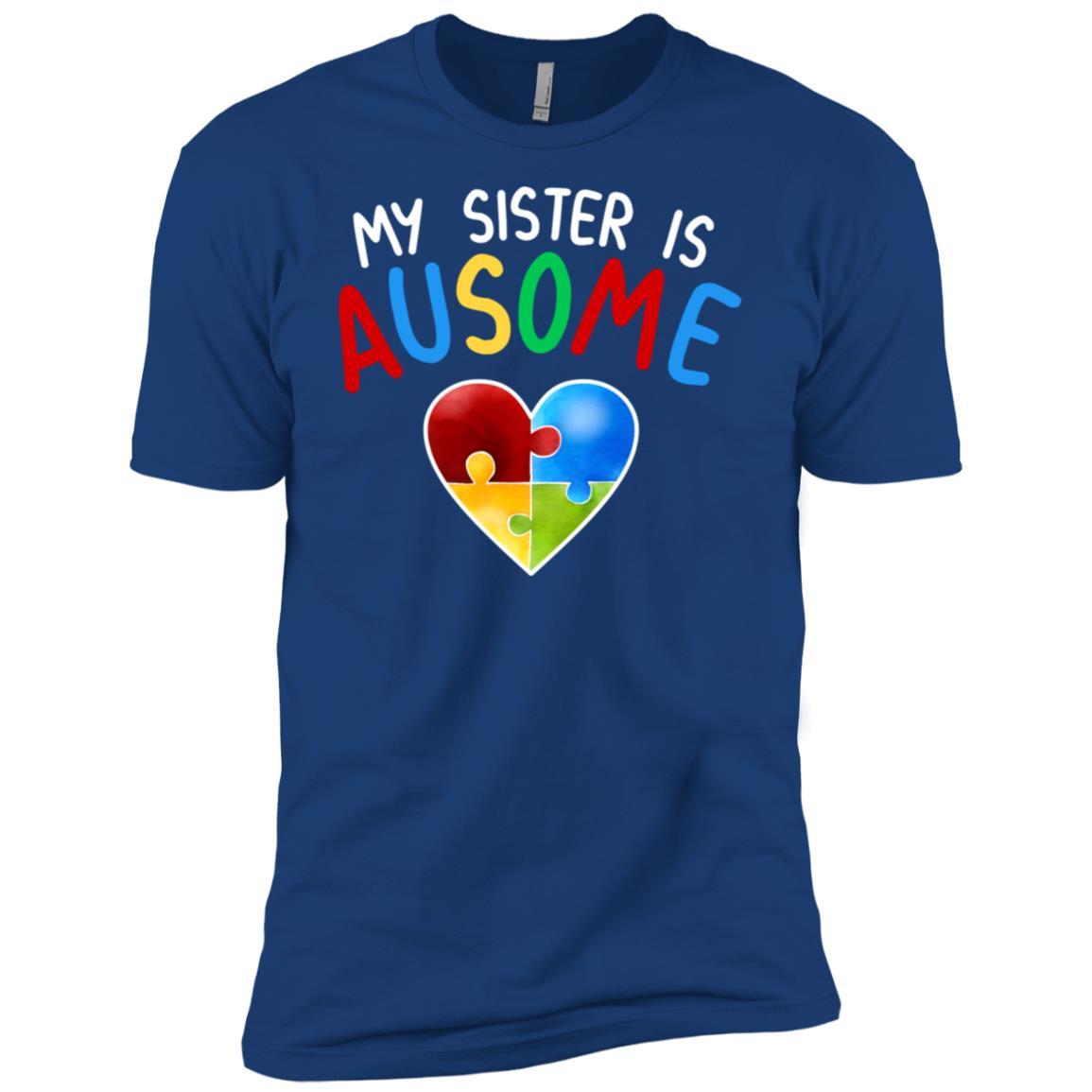 Love My Autistic Sister Autism Awareness Men Short Sleeve T-Shirt